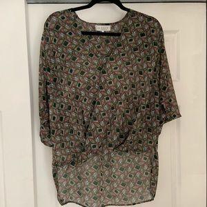 Nordstrom WAYF patterned blouse